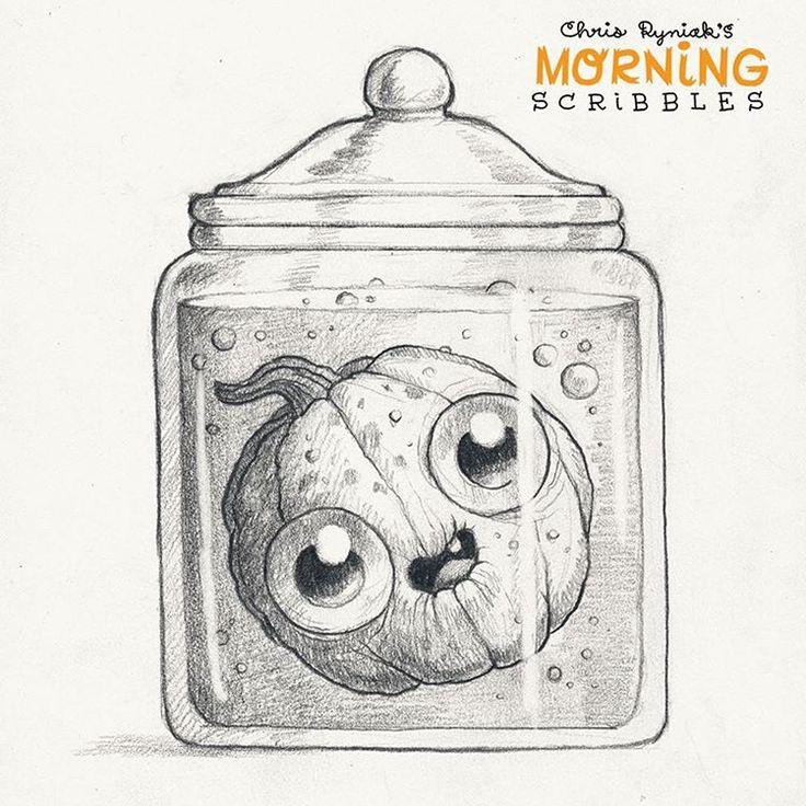 Pickled Punkin'  #morningscribbles #halloween #october