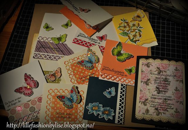 butterfly cards lillefashion.by.lise