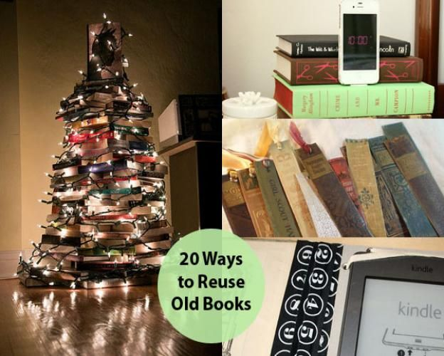 Surround yourself with books! Book lovers of all ages will love decorating with these fabulous vintage book projects.