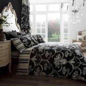 Gaveno Cavailia Richmond Black Duvet Cover and Pillowcase Set