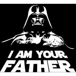 Star Wars Darth Vader I Am Your Father fabric/t-shirt Iron on Transfers