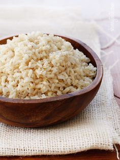 How to Make Perfect Brown Rice Every Time - A foolproof method for making perfect brown rice that is never sticky.  #vegetarian