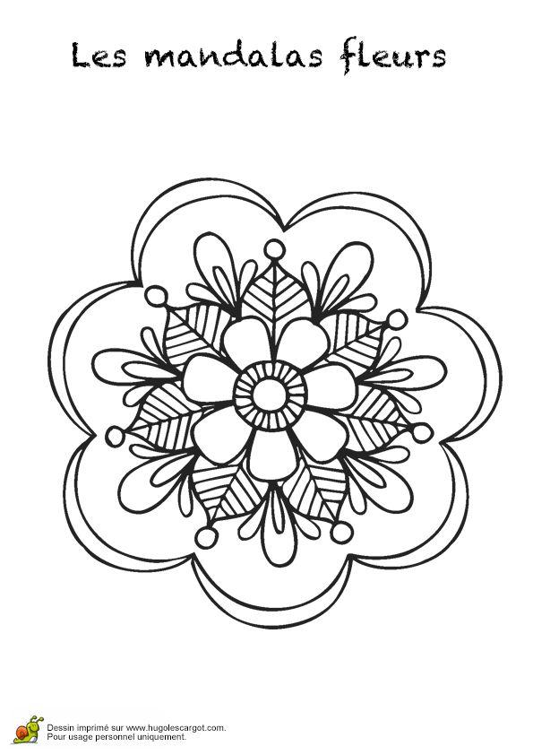 1000 id es sur le th me fleur mandala sur pinterest mandala art mandalas et kal idoscopes - Dessin de fleur facile ...