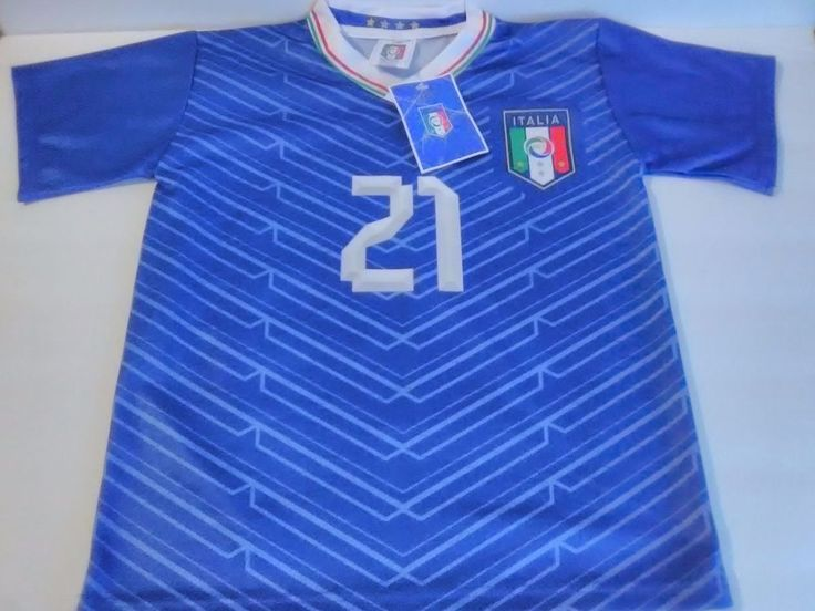 Italia Soccer Club Blue Andrea Pirlo #21 Small Jersey Italy NEW with tag #Italy