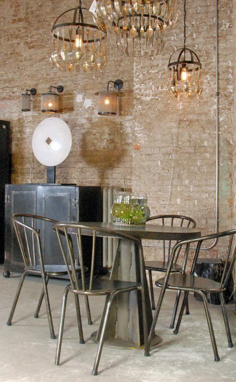 Chandeliers in Industrial Style Interior