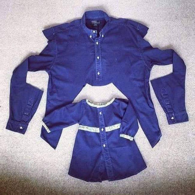 Wie man alte Hemden in niedliche Kleider für kleine Mädchen verwandelt