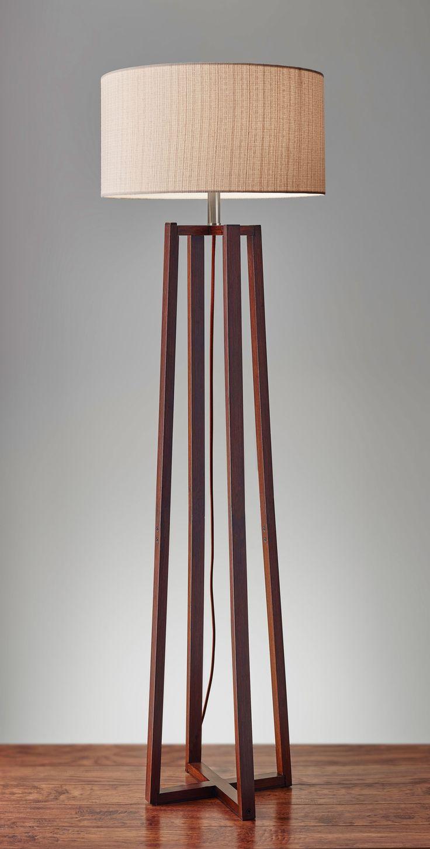 Quinn Floor Lamp ADESSO in 2020 Rustic floor lamps