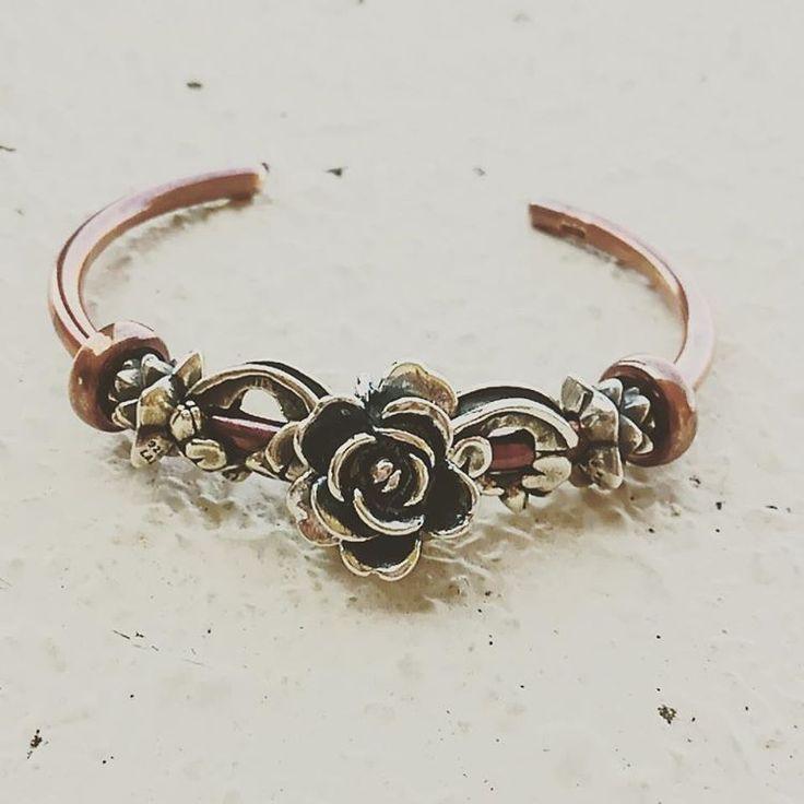 Trollbeads Copper and Silver Bangle by @troll_troll_yumi