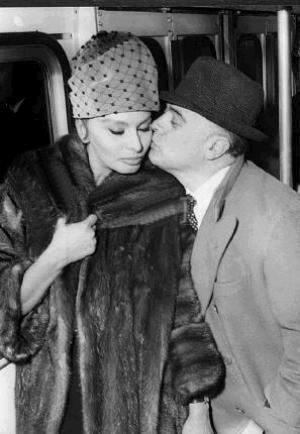Sophia Loren and Carlo Ponti, always adoring.