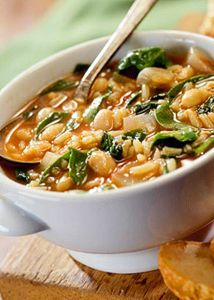 Savory Bean and Spinach Soup | Fitness Magazine. A great, light soup for windy spring days!