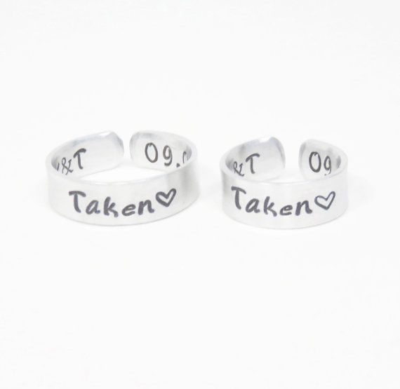 Customized promise rings Relationship rings couple rings by indiecreativ
