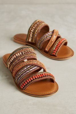 Jasper & Jeera Azille Slides Orange Sandals