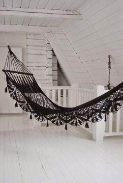 Lace hammock.