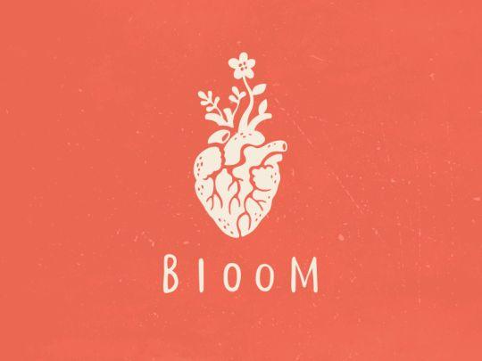 Bloom http://ift.tt/2kj8d43 #Alexa Erkaeva heart logo design handwritten typography