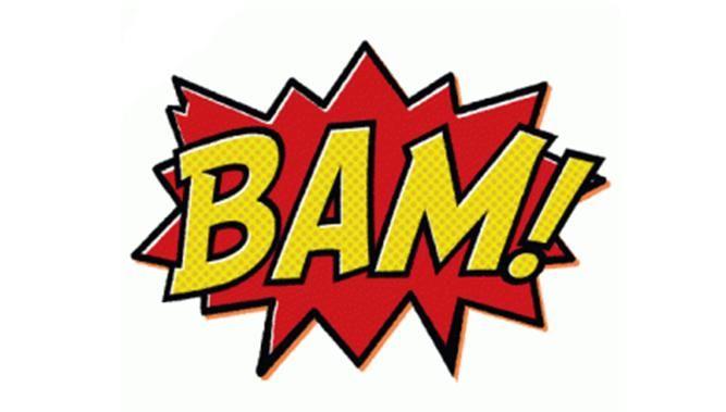 Bam comic sign