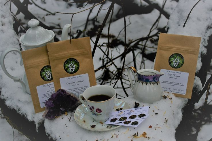 The ForestWitch creates these magical tea's to use in your spellwork or just enjoy on a cold night, especcialy when its a night under the full moon!