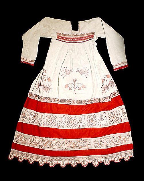 Россия.Рубаха женская праздничная. Лен,ситец.Вторая половина 19 века