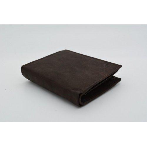 Lederen portefeuille - Bruin - Oil