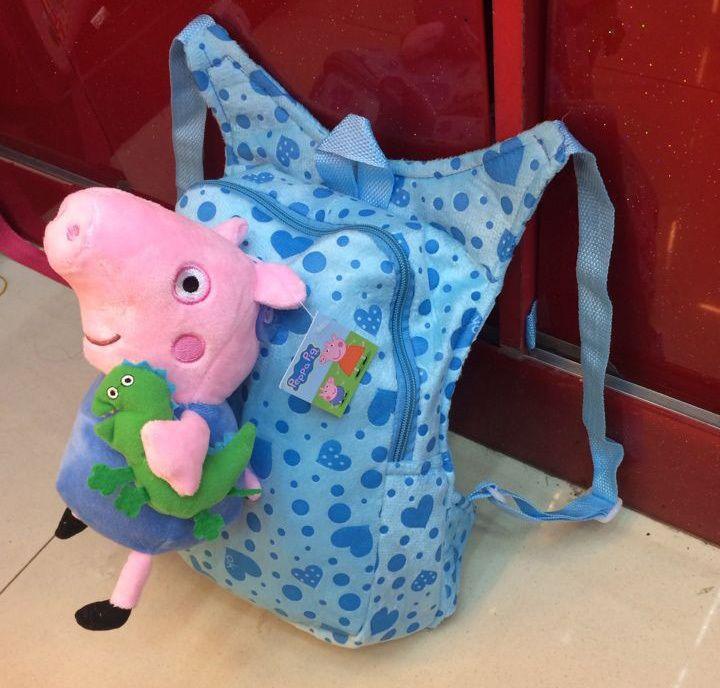 Детские школьные сумки плюшевые Peppa свинья куклы мультфильм джордж игрушки сумка дети мальчики девочки детский сад рюкзак 174JLZ, принадлежащий категории Школьные ранцы и относящийся к Багаж и сумки на сайте AliExpress.com | Alibaba Group