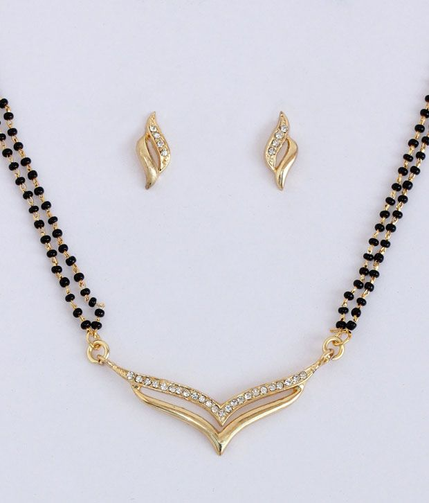 Touchstone Gold Plated AD Studded Mangalsutra Set, http://www.snapdeal.com/product/touchstone-gold-plated-ad-studded/1397545