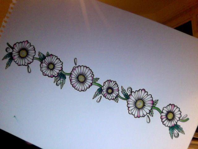 Daisy Chain Tattoo Design | Sophie Speke Tattoo Flash