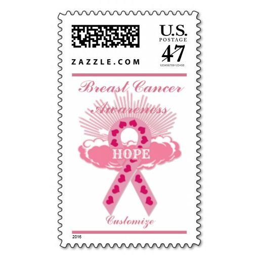 Pink Ribbon Of Hope Postage Stamp