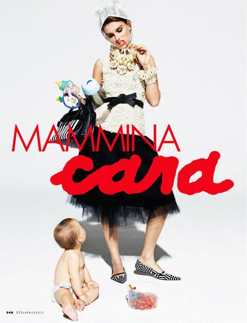 Mammina Cara (Mommie Dearest) fashion spread in Elle Italia