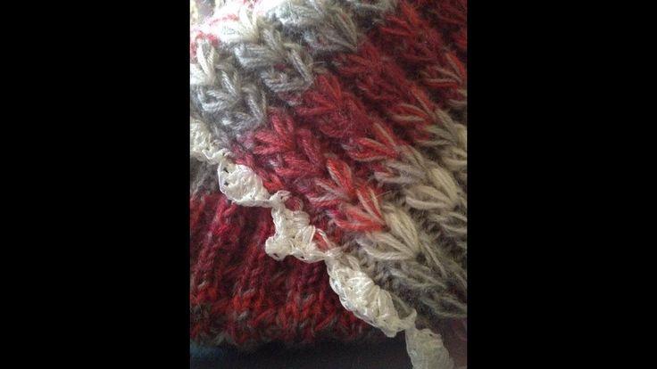 Tricoter le point joli coeur  / point original et facile à réaliser !!