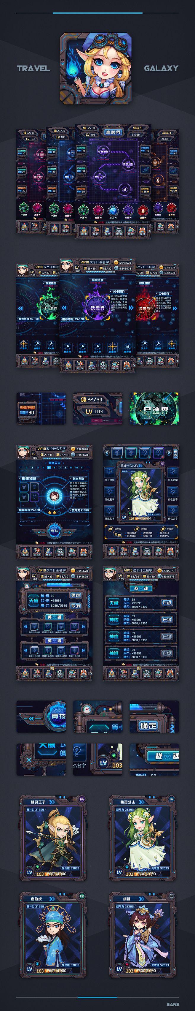 原创作品:复古机械整体游戏UI