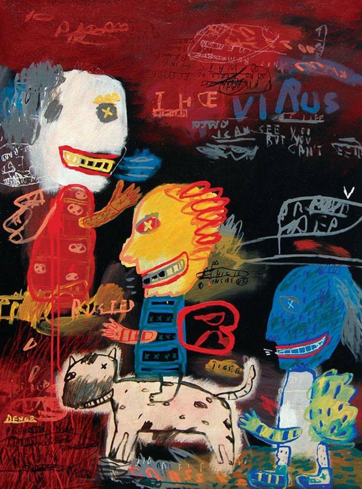 "Saatchi Art Artist deny pribadi; Painting, ""virus of life"" #art"
