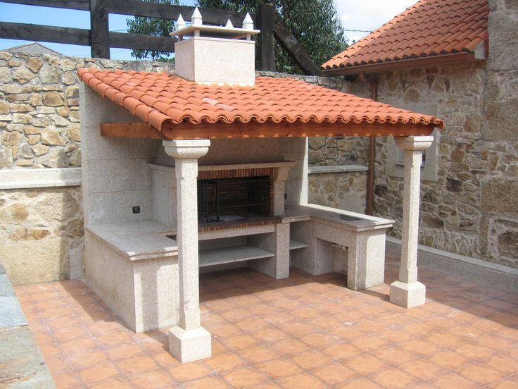 chimeneas cide barbacoa modelo rosalinda fabricada en piedra