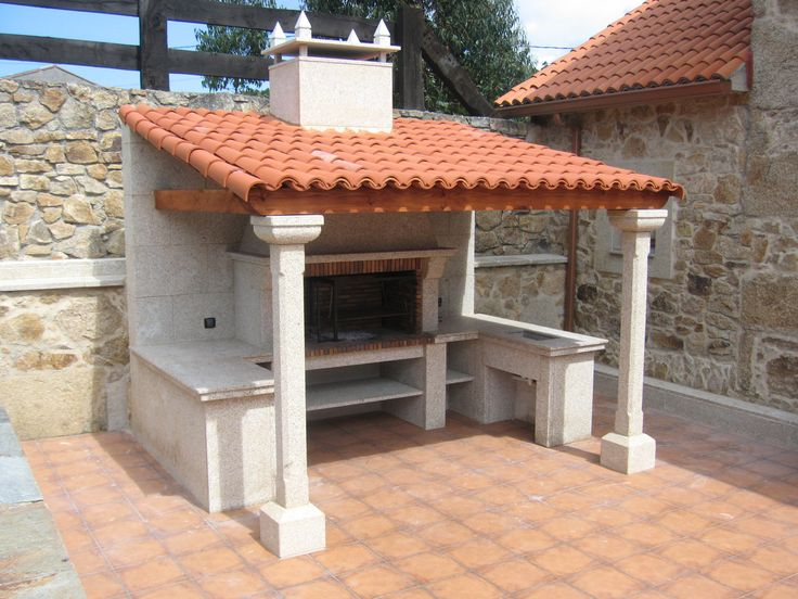 M s de 20 ideas fant sticas sobre chimeneas de piedra - Barbacoas de jardin ...