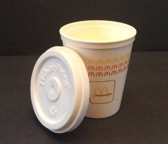 Fisher Price Fun with Food Vtg McDonalds Lot Coffee Cup and Lid Arches | eBay