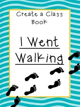"A great template to use to create a class book for your library.  Read the story ""I Went Walking"" during class.  Take your students on a walk outdoors and see what they see during their walk.  Students then write about it and illustrate it.    Packet Includes: Directions Title Page for Class Book Student Page to make copies of Footprints to use in the pictures  This is also a good activity to leave for a sub!"