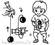 Beginners - Kendama.de - The Kendama Universe. Diagrams and instructions for several kendama tricks.