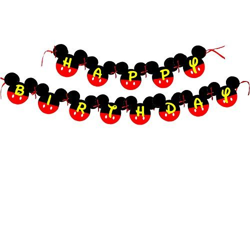 Mickey Mouse Birthday Banner | Mickey mouse Birthday Decorations | Happy Birthday Banner | Mickey mouse birthday | Mickey Mouse Party Supplies | Disney 1st birthday | Card Stock Banner #CARD_BAN_2 - http://www.partysuppliesanddecorations.com/mickey-mouse-birthday-banner-mickey-mouse-birthday-decorations-happy-birthday-banner-mickey-mouse-birthday-mickey-mouse-party-supplies-disney-1st-birthday-card-stock-banner-card_ban_2.html