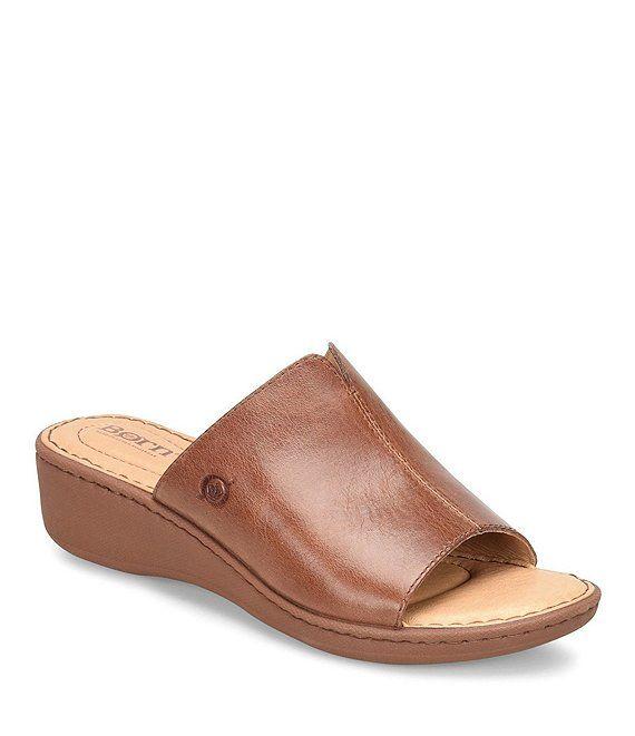 Born Bernt Leather Wedge Slide Sandals | Dillard's in 2019