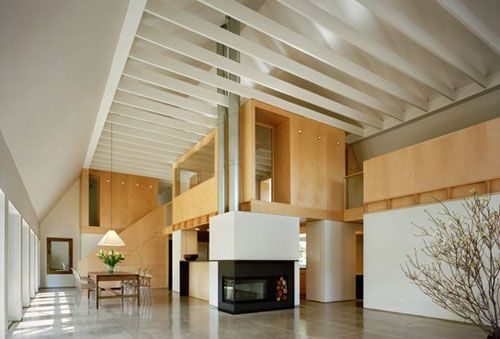 Modern Barn in Connecticut by Specht Harpman: Architects, Polish Concrete, Open Spaces, Barns Conver, Concrete Floors, Specht Harpman, Barns Home, Barns House, Modern Children
