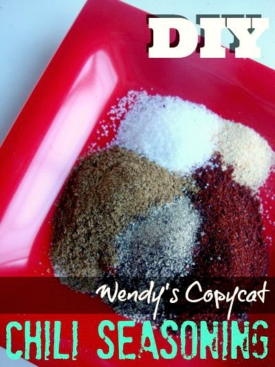 Wendy's Copycat Chili-Seasoning