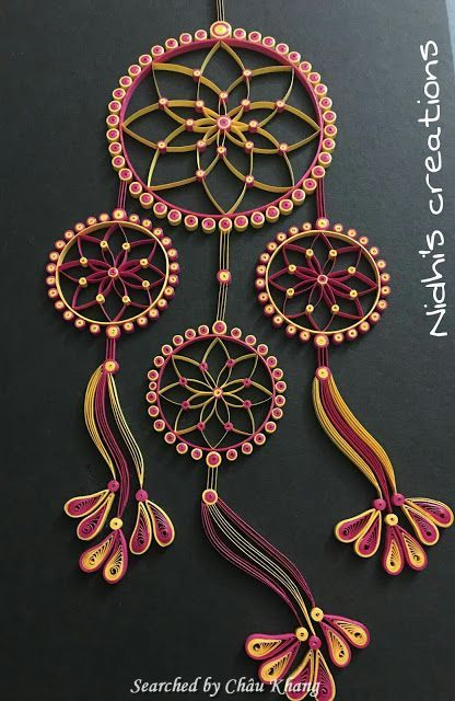 © Nidhi's creation - Quilled Dreamcatchers - Searched by Châu Khang