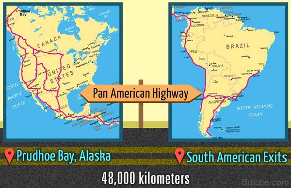 Pan American Highway Prudhoe Bay Alaska South American Exits 48000 kilometers
