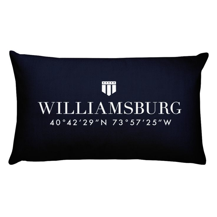 Williamsburg NYC Pillow with Coordinates