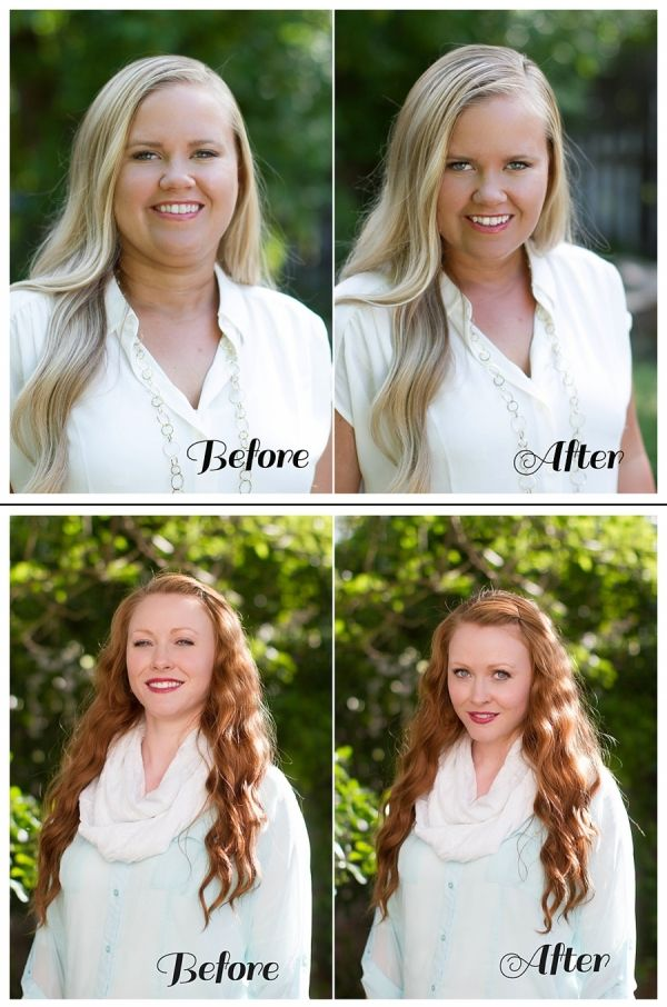 Chin-the most flattering angle for your face is when you stick your chin forward, and down. It gives you a jawline, eliminates any double chin. (source: Kate Pease Photography)