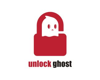 Unlock Ghost Logo design - This logo is ideal for a design & creative services, entertainment & media, games, and any related businesses.