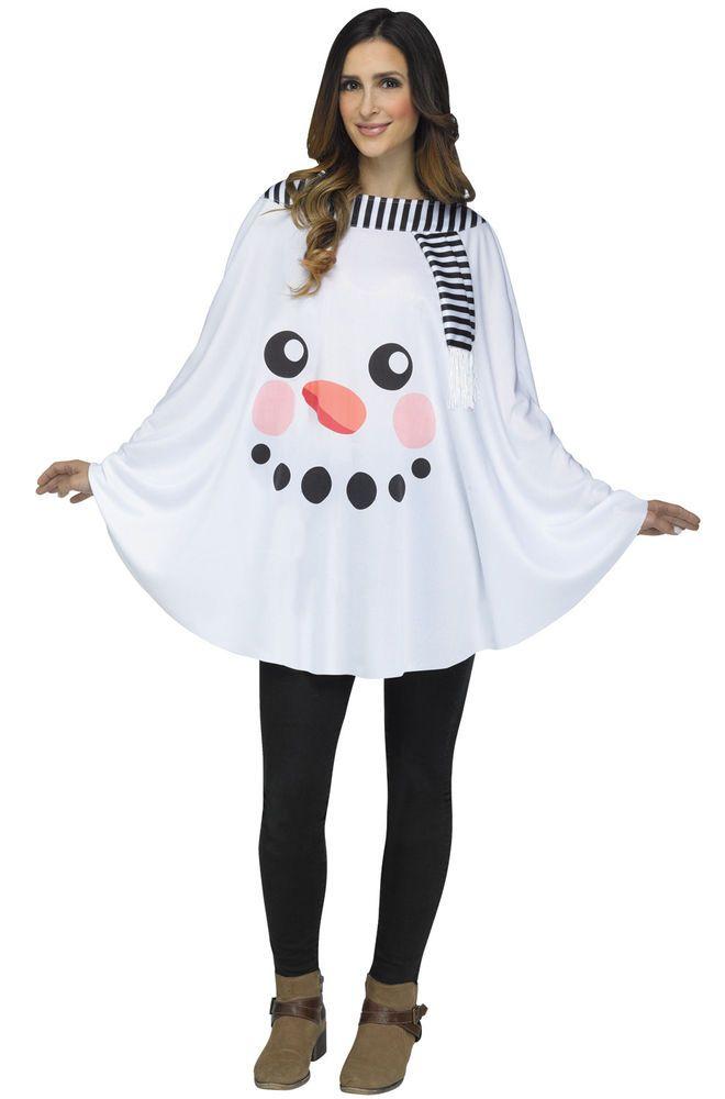 c5e54c5eff2 Snowman Poncho Santa Christmas Adult Costume  Halloween  CostumesforWomen   CoolCostumes