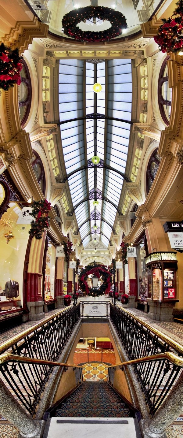 Melbourne Block Arcade decorated for Christmas