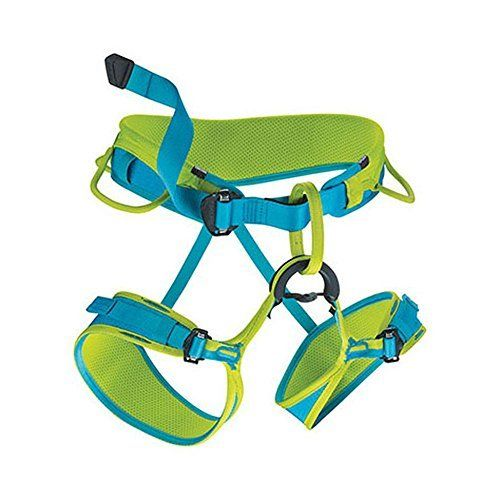 EDELRID - Jayne II Climbing Harness, Oasis/Icemint  The Jayne II is a great all-around women's climbing harness for all types of climbing and is one of the Center Fit series. The harnesses in our Center Fit series are particularly comfortable all-rounders. Their construction combines strong, load-bearing webbing with 3D-Mesh padding, making them significantly more comfortable. The movable foam padding can be adjusted. This means that the tie-in point can be centered and the gear loops…
