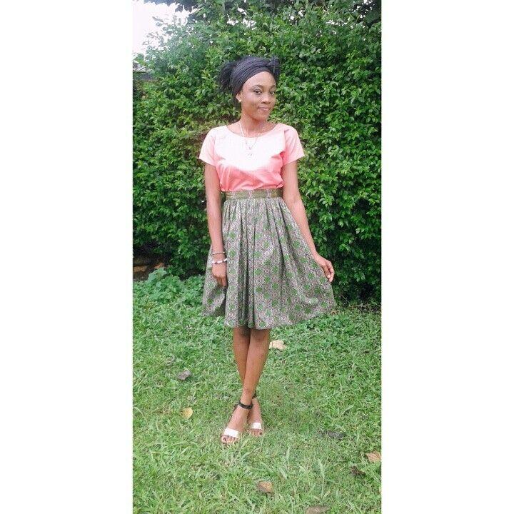 Ankara Crop top and splitting skirt