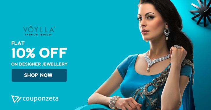 Complete your festive look with Gold, Imitation and Diamond Jewellery 💍💎 Buy Fashion #jewellery @voyllafashion Save Flat 10% OFF on #women #earrings #necklaces #rings #chains #anklets #OneLifeOneRuPay #ThursdayThoughts