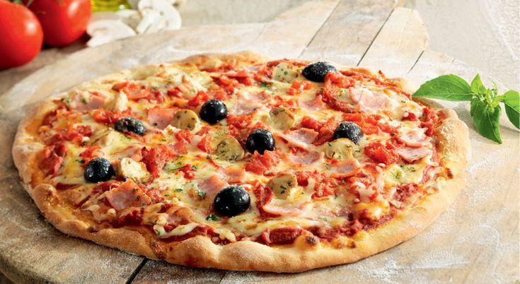 Recette de #pizzas #jambon #fromage
